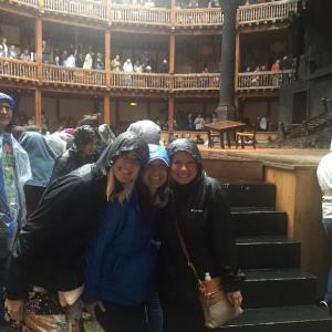 Globe Theatre Pouring Rain