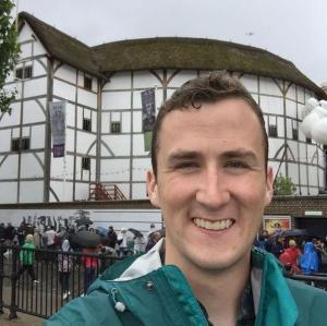 Globe Theatre selfie