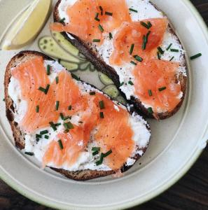 Salmon and Cream Cheese in London